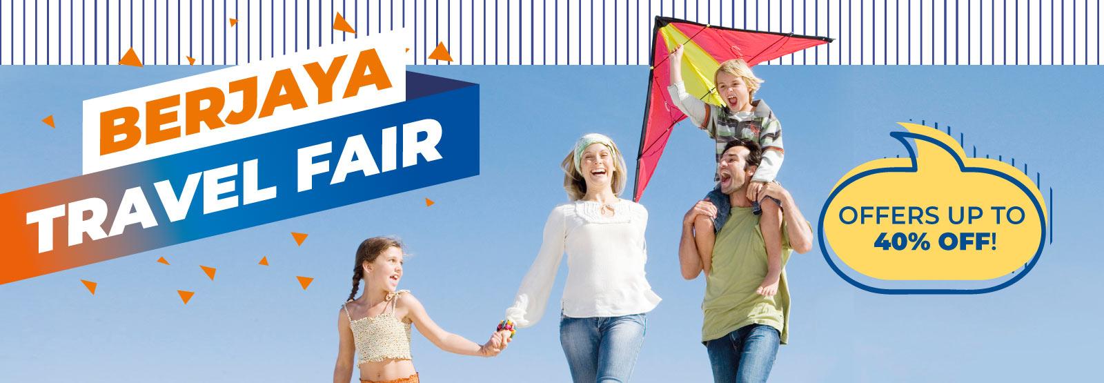 Berjaya Travel Fair Up to 40% off