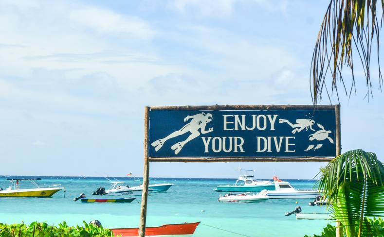 Diving Centre Entrance